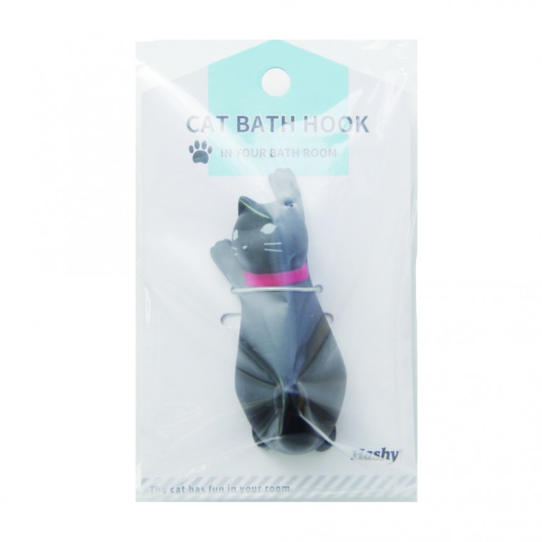 Cat of the hook to stick to the mirror and tiles in bathroom BK